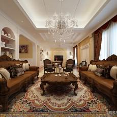 2018面积128平欧式四居客厅欣赏图片