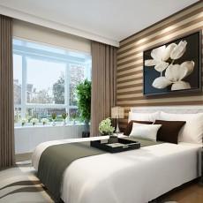 83平米二居卧室现代效果图