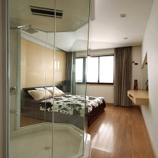 精选大小102平现代三居卧室装修实景图