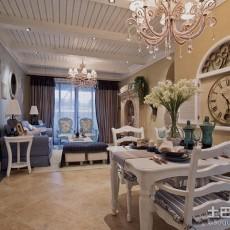 精美面积82平地中海二居餐厅装修设计效果图片