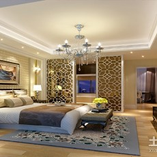 精美97平米三居卧室现代实景图片