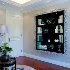 热门面积93平欧式三居书房装饰图片欣赏