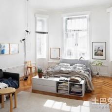 面积83平欧式二居卧室效果图