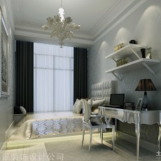 精美面积140平欧式四居书房实景图片欣赏