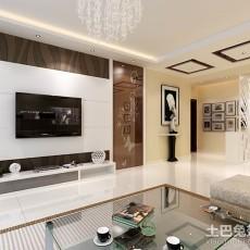 面积78平小户型客厅现代装修实景图片大全