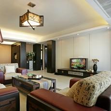 面积95平中式三居客厅装修设计效果图片大全