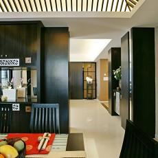 2018面积96平中式三居玄关装修实景图