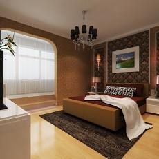 面积76平欧式二居卧室效果图