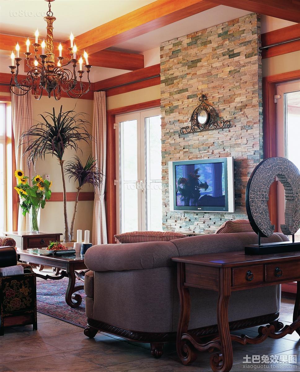 热门面积111平复式客厅中式装修设计效果图片