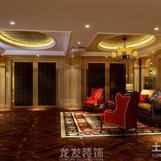 2018111平米欧式别墅客厅实景图片大全