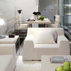 精选面积91平现代三居客厅装修欣赏图片
