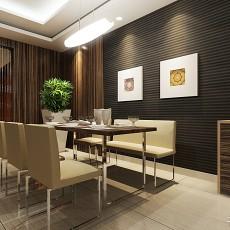精美97平米三居餐厅现代欣赏图