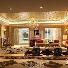 热门面积120平别墅客厅欧式装饰图