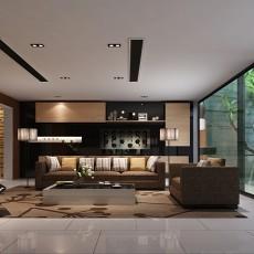 热门大小122平别墅客厅现代装修图