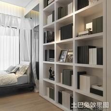 2018面积82平现代二居书房设计效果图