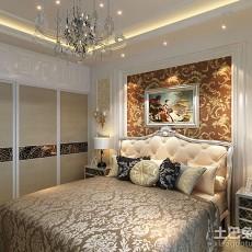 2018精选103平米三居卧室欧式实景图