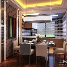 热门124平米四居餐厅现代装修实景图片欣赏