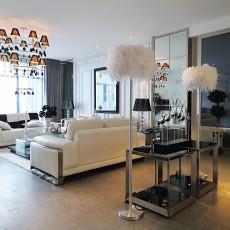 2018面积107平现代三居客厅装修图片大全