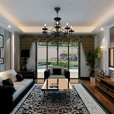 精选面积91平现代三居客厅装修效果图片