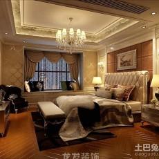 热门面积110平欧式四居卧室装饰图片大全