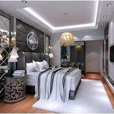 2018精选90平米三居卧室现代装修设计效果图片