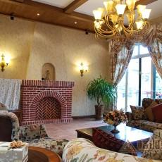 热门复式客厅美式设计效果图