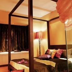 精美面积93平中式三居卧室装修设计效果图