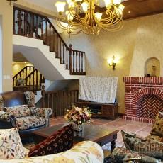 面积138平复式客厅美式装修欣赏图