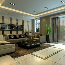 现代风格家装客厅装修效果图