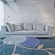现代客厅沙发壁纸装修效果图