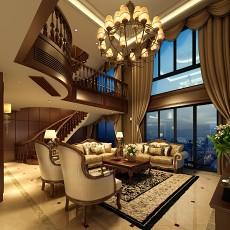 2018125平米欧式别墅客厅装修设计效果图片欣赏