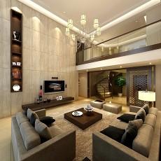 面积125平别墅客厅现代效果图片欣赏
