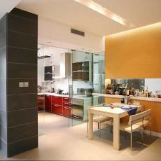 现代餐厅厨房隔断效果图