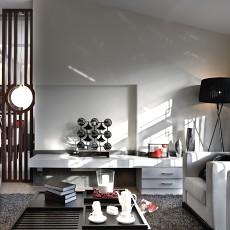 热门面积101平中式三居客厅装修效果图片大全