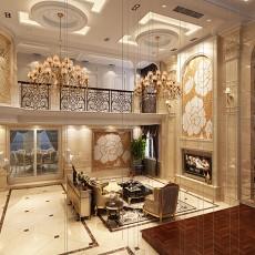 大小127平别墅客厅欧式效果图片欣赏
