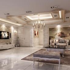 热门面积118平别墅客厅欧式效果图片大全