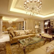 精美面积121平别墅客厅欧式装饰图片