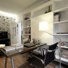 热门93平米三居书房现代装修效果图片