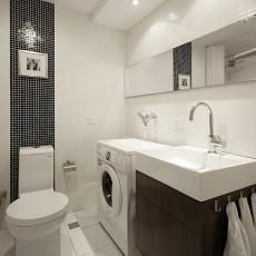 精选95平米三居卫生间现代欣赏图片
