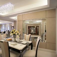 面积94平欧式三居餐厅装修欣赏图片