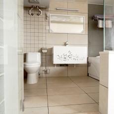 精美面积112平复式卫生间现代装修实景图