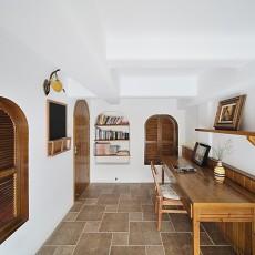 122平米现代复式书房装修设计效果图片大全