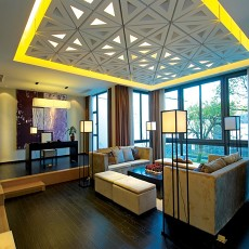 2018精选84平米二居客厅现代装修设计效果图片大全