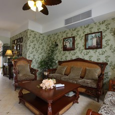 107平方三居客厅美式欣赏图片