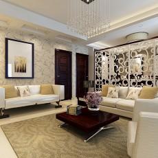 2018132平方中式别墅客厅装饰图片欣赏