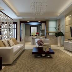 2018117平方中式别墅客厅装修实景图