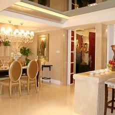 面积106平欧式三居餐厅装修实景图片欣赏