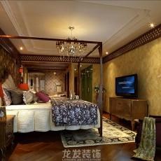热门面积81平美式二居卧室装修图