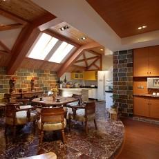 精选面积114平复式餐厅美式装修图片欣赏