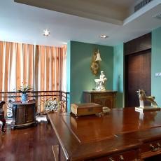 热门112平米美式复式书房实景图片